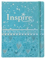 NLT Inspire Bible for Girls, Leatherlike Hardcover, Blue