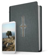 NLT Filament Bible, Gray Clothbound Hardcover