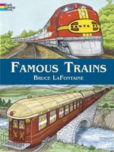 Famous Trains: Coloring Book
