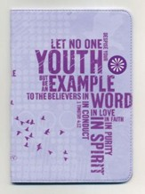 NKJV Compact Ultraslim Bible, Leathersoft, powder purple - Slightly Imperfect