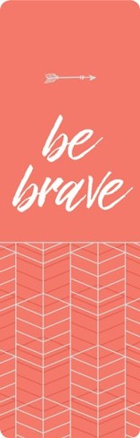 Be Brave - Faux Leather Bookmark