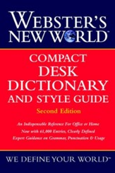 Webster's New World Compact Desk  Dictionary and Style Guide, Edition 0002