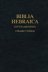 Biblia Hebraica Stuttgartensia: A Reader's Edition [Imitation Leather]