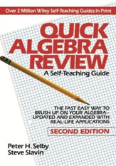 Quick Algebra Review: A  Self-Teaching Guide, Edition 0002