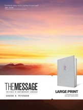 The Message Large Print Edition,  Deluxe Lavender Linen  Hardcover