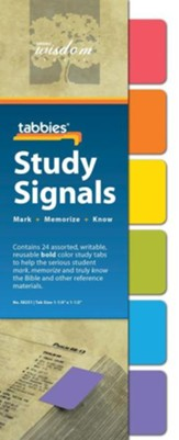 Study Signals Tabs, Bold Colors, Set of 24