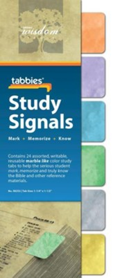Study Signals Tabs, Marbled Colors, Set of 24