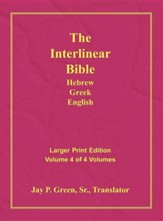 Interlinear Hebrew-Greek-English Bible  Large Print Volume 4, Cloth -- Slightly Imperfect