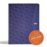 CSB Tony Evans Study Bible--soft leather-look, purple