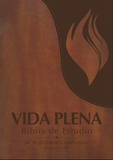 Biblia de Estudio RVR 1960 Vida Plena, Piel Imit., Marron, Indice   (RVR 1960 Full Life Study Bible, Imit. Leather, Brown, Ind.)
