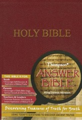 KJV Thompson Answer Bible: Discovering Treasures of Truth for Youth, Imitation Leather, Burgundy