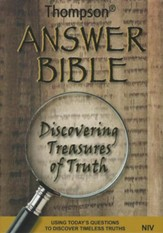 Thompson Answer Bible-NIV: Discovering Treasures of Truth, Hardcover