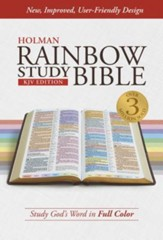KJV Rainbow Study Bible, Hardcover, Thumb-Indexed - Slightly Imperfect