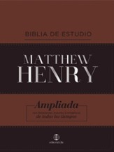 RVR Bibilia de Estudio Matthew Henry, piel italiana con indice (Matthew Henry Study Bible, with Index)