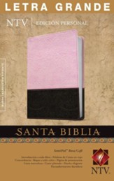 NTV Edicion personal letra grande SentiPiel rosa/cafe ind, NTV Personal Edition Large-Print Bible--imitation leather, pink/brown (indexed)
