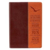 Soar on Wings of Eagles Journal, LuxLeather, Brown/Tan