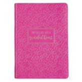 Start Each Day With a Grateful Heart Zippered Journal, LuxLeather Pink