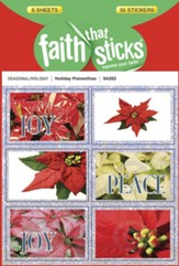 Stickers: Holiday Poinsettias