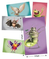 Cave Quest VBS 2016: Giant Bible Memory Buddy Posters, set of 6