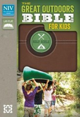 The Great Outdoors Bible for Kids, NIV, Italian Duo-Tone, Bark Brown - Slightly Imperfect