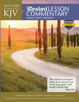 2019-2020 KJV Standard Lesson Commentary, Large-print softcover