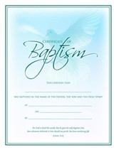 Dove, Baptism Certificates, 6