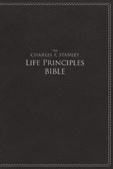 NIV, The Charles F. Stanley Life Principles Bible, Imitation Leather, Black, Indexed