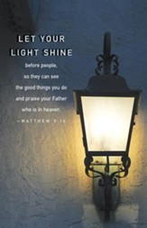 Let Your Light Shine (Matthew 5:16, CEB) Scripture Series Bulletin (Pkg of 50)