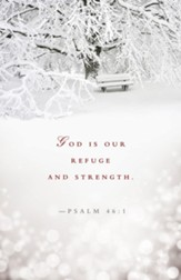Refuge and Strength Winter Bulletin (Psalm 46:1) Bulletins, 50