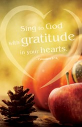 Gratitude (Colossians 3:16, CEB) Bulletins, 50