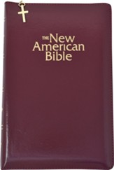 NAB Gift Bible, Imitation Leather, Burgundy with zipper