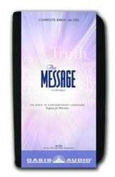 The Message: The Bible in Contemporary Language - Unabridged Audiobook on 66 CDs in a Carrying Case
