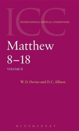 Matthew 8-18, International Critical Commentary  - Slightly Imperfect