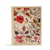 CSB Notetaking Bible--cloth over board, floral