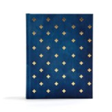 CSB Notetaking Bible--cloth over  board, navy blue with crosses