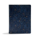 CSB Study Bible--soft leather-look, navy blue