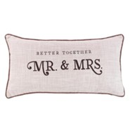 Better Together, Mr. and Mrs., Pillow, Oblong, Medium
