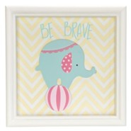 Be Brave, Elephant, Framed Art