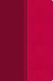NKJV Large Print Ultraslim Reference Bible, Leathersoft Raspberry Pelt