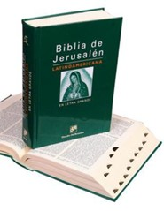 Biblia de Jerusalen Latinoamericana-En Letra Grande, Cloth, Green, Thumb Index
