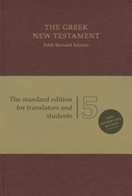 Greek New Testament, Fifth Revised Edition (UBS5) Red Hardcover
