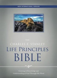 NIV, The Charles F. Stanley Life Principles Bible, Hardcover