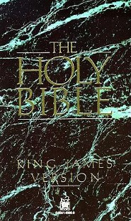 KJV Text Bible, Paper, Green Marble  -     By: Ivy