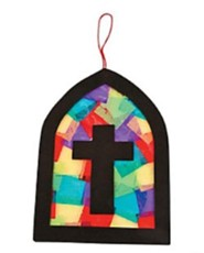 Vitral de colores de papel tis&#250 (Tissue Paper Stained Glass Window, Pack of 12)