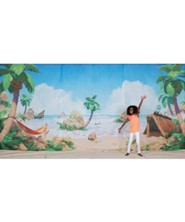 Shipwrecked / Treasure Hunt Fabric Wall Hanging                    (Three 8 ft x 6 ft cloth panels)