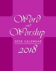Word and Worship Desk Calendar 2018
