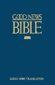 TEV Large Print Bible, Edition 0002, Paper, Blue
