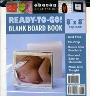 Ready-To-Go Blank Board Book White 8 X 8 Square  -