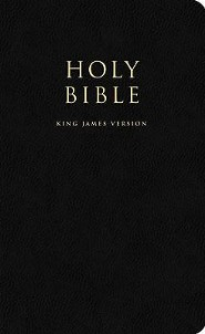 Bible-KJV, Leather, Black  -