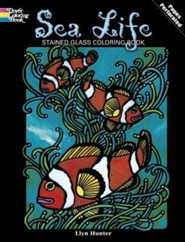 Sea Life Stained Glass Coloring Book  -     By: Llyn Hunter